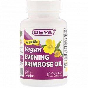 Deva, Веганское масло примулы вечерней высшего сорта, 90 веганских капсул