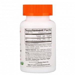 Doctor&#x27 - s Best, Легкоусвояемое железо с Ferrochel, 27 мг, 120 таблеток