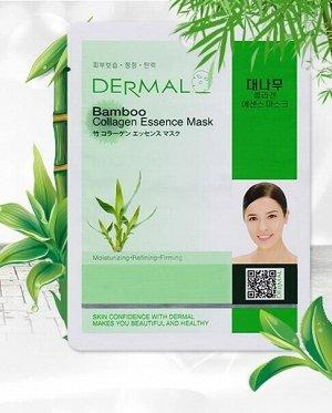 Dermal,Тканевая маска с коллагеном и экстрактом бамбука Dermal Bamboo Collagen Essence Mask