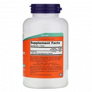 Now Foods, Яблочнокислый магний, 1000 мг, 180 таблеток