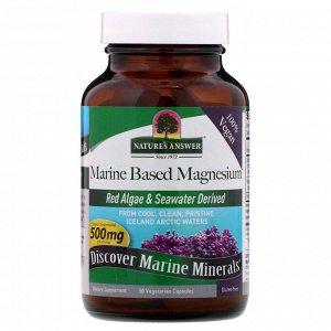 Nature&#x27 - s Answer, Магний из морепродуктов, 500 мг, 90 вегетарианских капсул