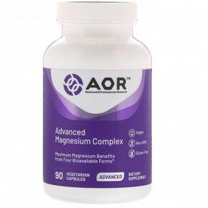 Advanced Orthomolecular Research AOR, Улучшенный комплекс магния, 90 растительных капсул
