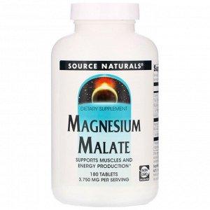 Source Naturals, Малат магния, 3750 мг, 180 таблеток