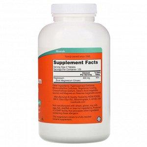 Now Foods, Цитрат магния, 200 мг, 250 таблеток