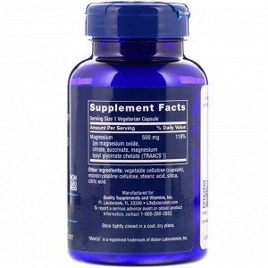 Life Extension, Магниевые капсулы, 500 мг, 100 вегетарианских капсул