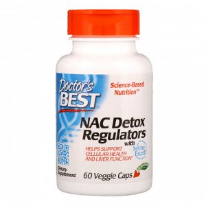 Doctor&#x27 - s Best, NAC регуляторы детоксикации, 60 растительных капсул