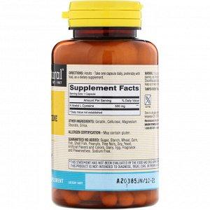 Mason Natural, NAC N-Ацетил-L-цистеин, 60 капсул