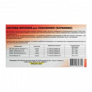 Система питания для клубники (комплект удобрений), 2,24 кг  БХЗ