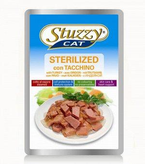 Stuzzy Cat Sterilized влажный корм для стерилизованных кошек и кастрированных котов Индейка 100гр пауч