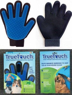 Перчатка-щетка массажная (правая), цвета в ассортименте