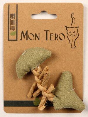 Мон Теро ЭКО игрушка Рыбья кость 11см с кошачьей мятой зеленая