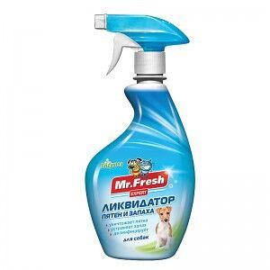 Mr.Fresh Спрей Ликвидатор пятен и запаха для собак 500мл АКЦИЯ!