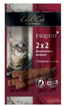 Edel Cat лакомство для кошек МИНИ-колбаски Говядина салями 2шт/4гр
