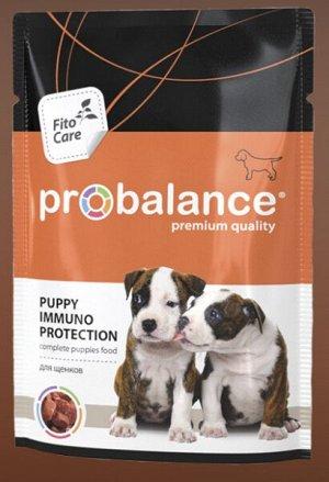 ProBalance Puppy Immuno Protection влажный корм для щенков с говядиной 100 гр пауч