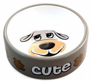 Миска керамика для собак Песик 0,3л
