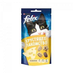 Purina Felix хрустящее лакомство для взрослых кошек с сыром, 60г