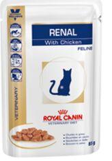 Royal Canin Renal диета влажный корм для кошек при хронической почечной недостаточности Ренал с Курицей 85гр пауч