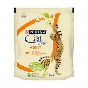 Cat Chow Adult сухой корм для кошек Домашняя птица 400гр АКЦИЯ!