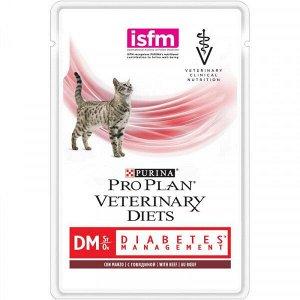 Purina Diabetes DM диета влажный корм для кошек при диабете Говядина 85гр пауч