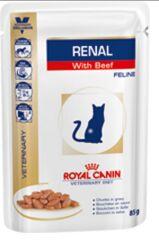 Royal Canin Renal диета влажный корм для кошек при хронической почечной недостаточности Ренал с Говядиной 85гр пауч