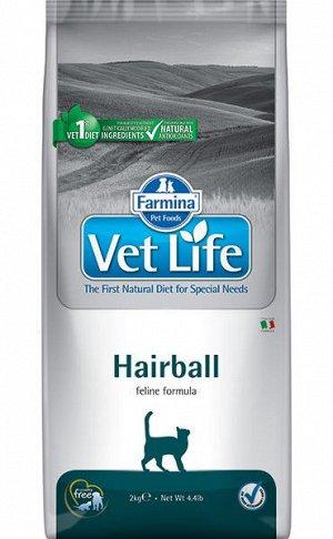 Farmina Vet Life Cat Hairball диета сухой корм для кошек для выведение шерстяных комочков 400гр