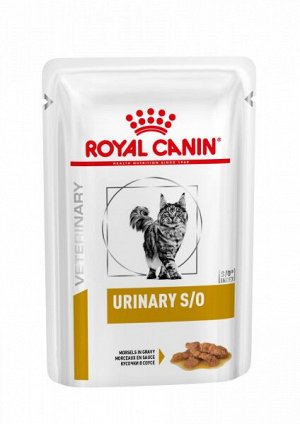 Royal Canin Urinary S/O диета влажный корм для кошек при заболеваниях дистального отдела мочевыделительной системы Курица пауч 85 г