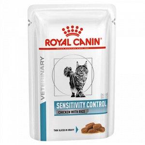 Royal Canin Sensitivity Control диета влажный корм для кошек при пищевой аллергии и непереносимости Сенситивити Контрол 85гр пауч
