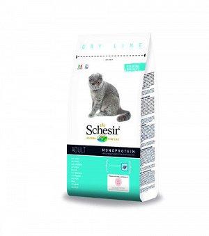 Schesir Adult Cat Monoprotein with Fish сухой корм для кошек с Рыбой 1,5кг