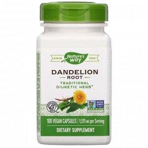 Nature&#x27 - s Way, Dandelion Root, 1,575 mg, 100 Vegan Capsules
