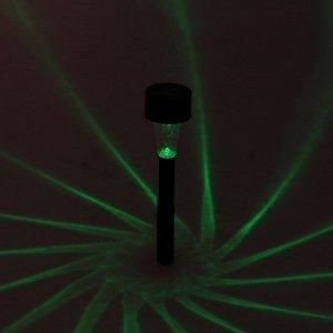 """Фонарь садовый на солнечной батарее """"Цилиндр"""", 31 см, d=4.5 см, 1 led, пластик, RGB"""