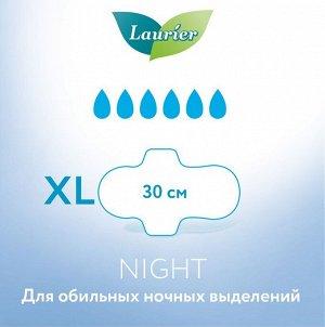 Laurier F Женские ночные тонкие гигиенические прокладки с крылышками 30 см 10 шт