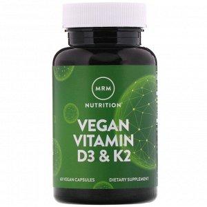 MRM, веганские витамины D3 и К2, 60 растительных капсул