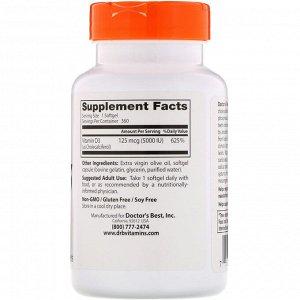Doctor&#x27 - s Best, Витамин D3, 125 мг (5000 МЕ), 360 мягких таблеток