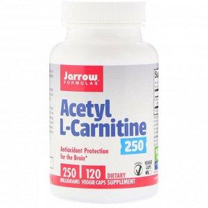 Jarrow Formulas, Acetyl L-Carnitine, 250 mg, 120 Veggie Caps