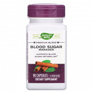 Nature&#x27 - s Way, Уровень сахара в крови, 90 капсул