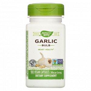 Nature&#x27 - s Way, Garlic Bulb, 580 mg, 100 Vegan Capsules