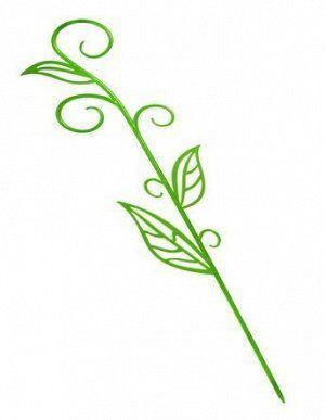 Опора Держатель д/орхидей Вьюн-лист 61см оранжевый пластик