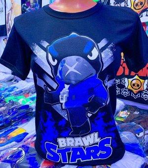 Светящаяся футболка «Brawl stars» Ворон черный