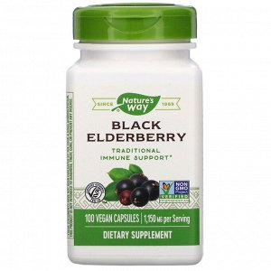 Nature&#x27 - s Way, Черная бузина, 575 мг, 100 вегетарианских капсул