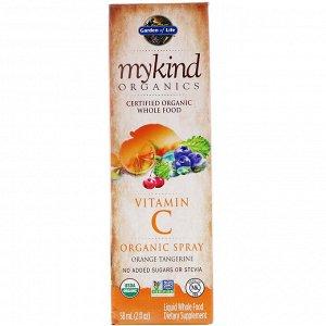Garden of Life, MyKind Organics, Vitamin C Organic Spray, Orange-Tangerine, 2 fl oz (58 ml)
