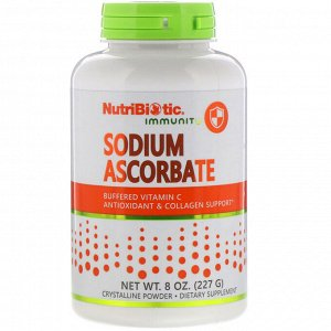 NutriBiotic, Immunity, аскорбат натрия, кристаллический порошок, 227 г (8 унций)