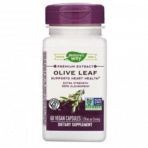 Nature&#x27 - s Way, Premium Extract, Olive Leaf, 250 mg, 60 Vegan Capsules