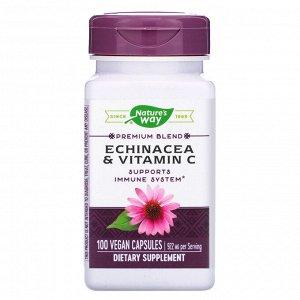 Nature&#x27 - s Way, Эхинацея и витамин С, 922 мг, 100 веганских капсул