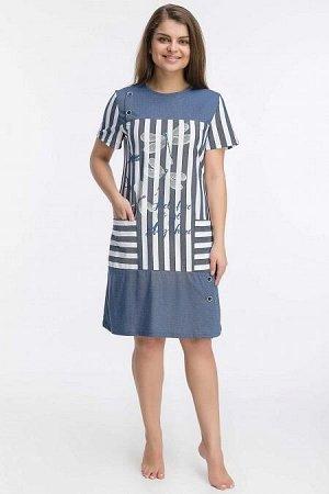 Платье-туника Саяна (3455). Расцветка: стрекоза