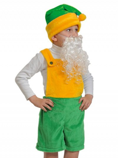Карнавальные костюмы. Мультяшные, новогодние, сказочные 👘 — Серия Плюш-ткань: Гномы, Эльфы, Снеговики, Санта, Скоморохи — Карнавальные товары