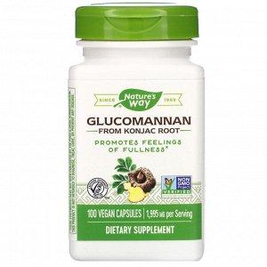 Nature&#x27 - s Way, Glucomannan from Konjac Root, 1,995 mg, 100 Vegan Capsules