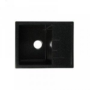 Мойка кухонная из камня MARRBAXX Анастасия Z150Q4, 575х470х177, глянцевая, черная