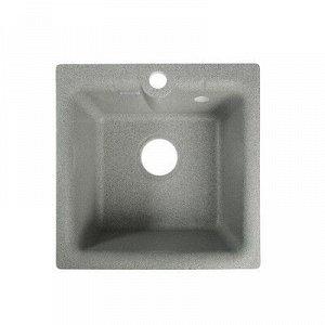 Мойка кухонная из камня GRANMILL 18, 420х420х200 мм, темно-серая