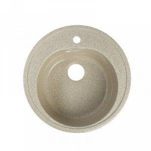 Мойка кухонная из камня MARRBAXX Черая Z3Q5, d=510 мм, глубина 19 см, глянцевая, песочная