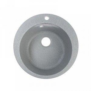 Мойка кухонная из камня ZETT lab. 5/Q8, d=495 мм, матовая, темно-серая